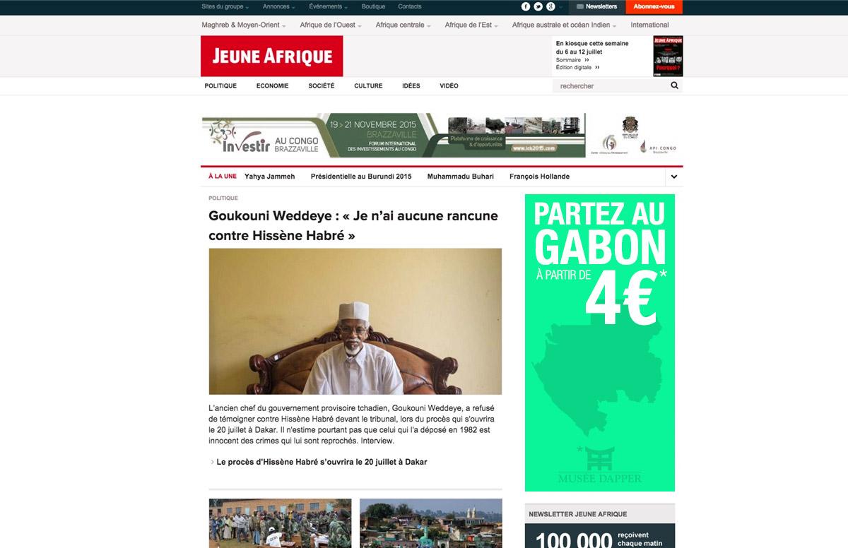 """Bannière """"Gabon"""" de la campagne Chefs d'oeuvres d'Afrique du Musée Dapper"""