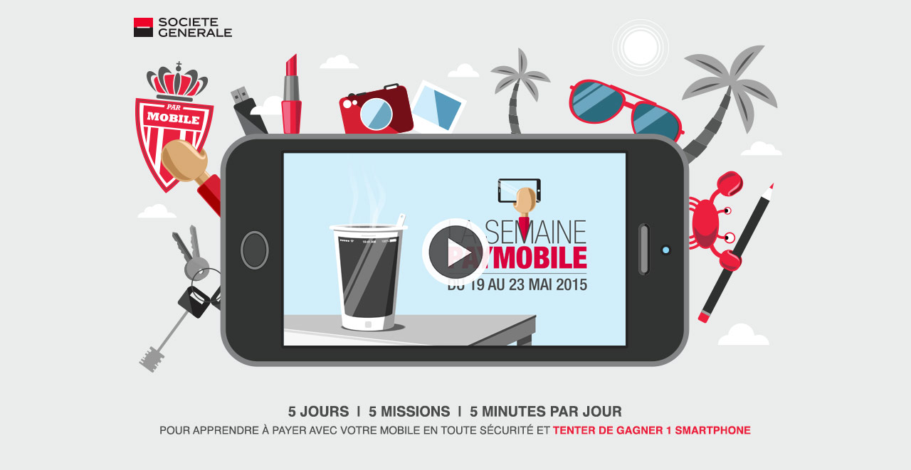 Page d'accueil du mini-site Paymobile Société Générale