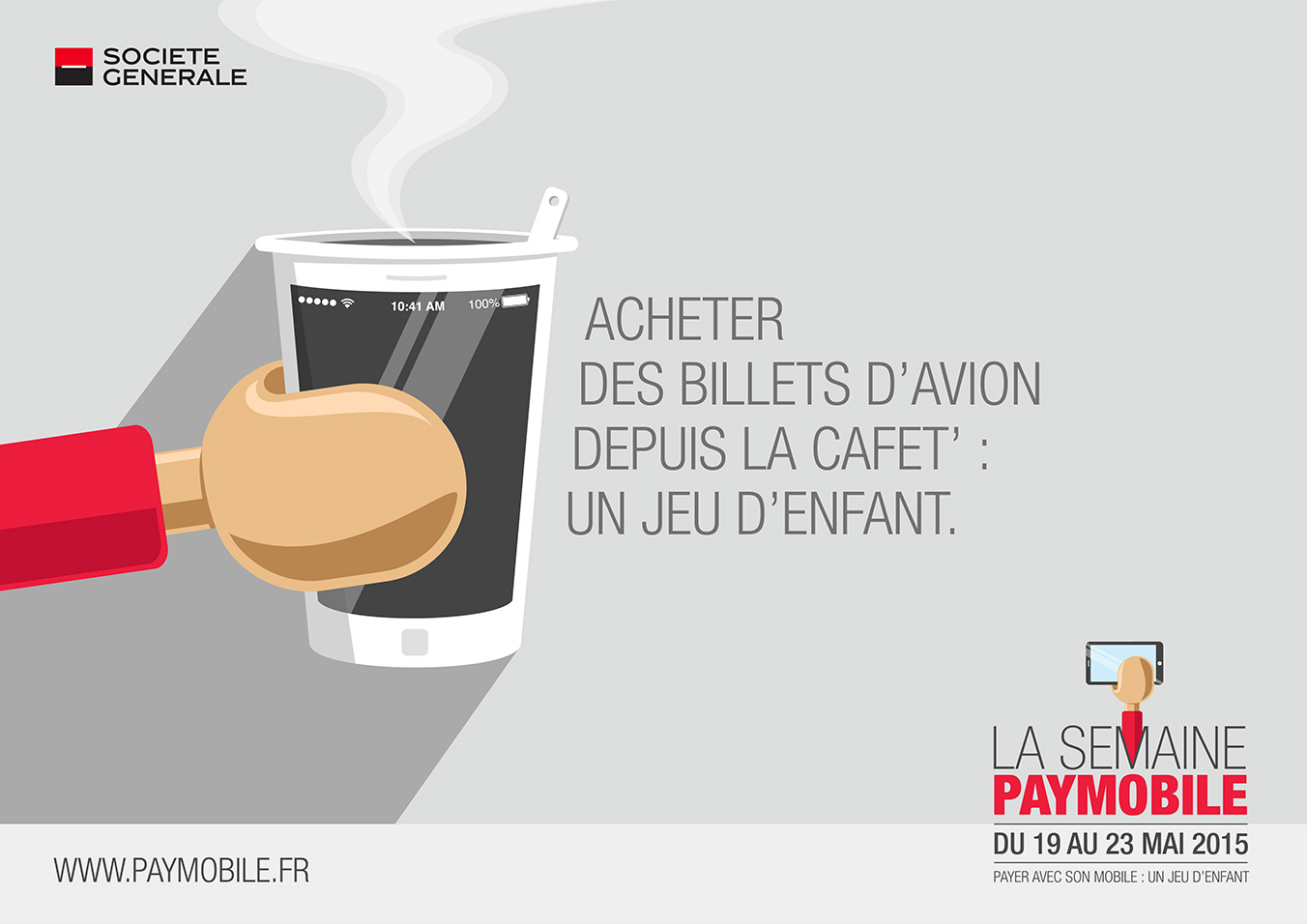 Affiche campagne paymobile - cafeteria